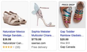 Google shopping produit