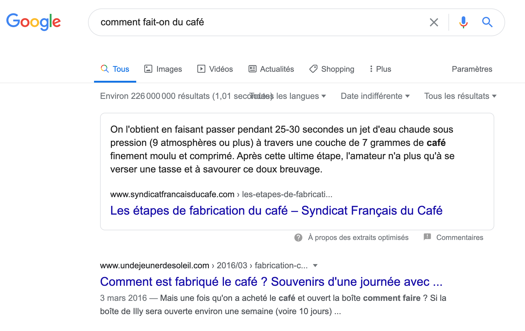 featured snippet position 0